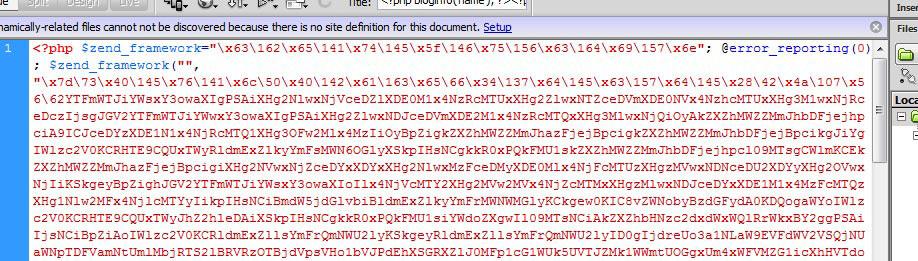 Hacked WordPress theme file